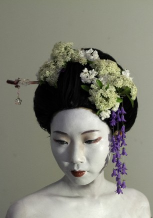 Geisha hair and makeup