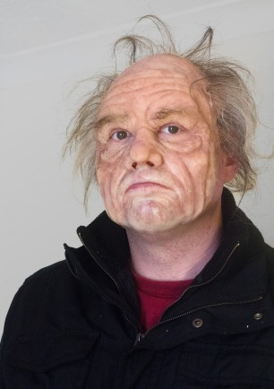 Prosthetic ageing makeup