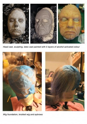 Prosthetic ageing makeup preparation