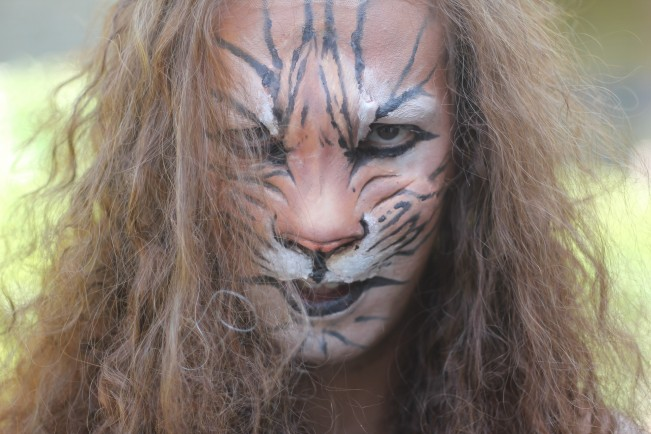 Tiger prosthetic makeup